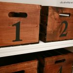 DIY Numbered Storage Crates