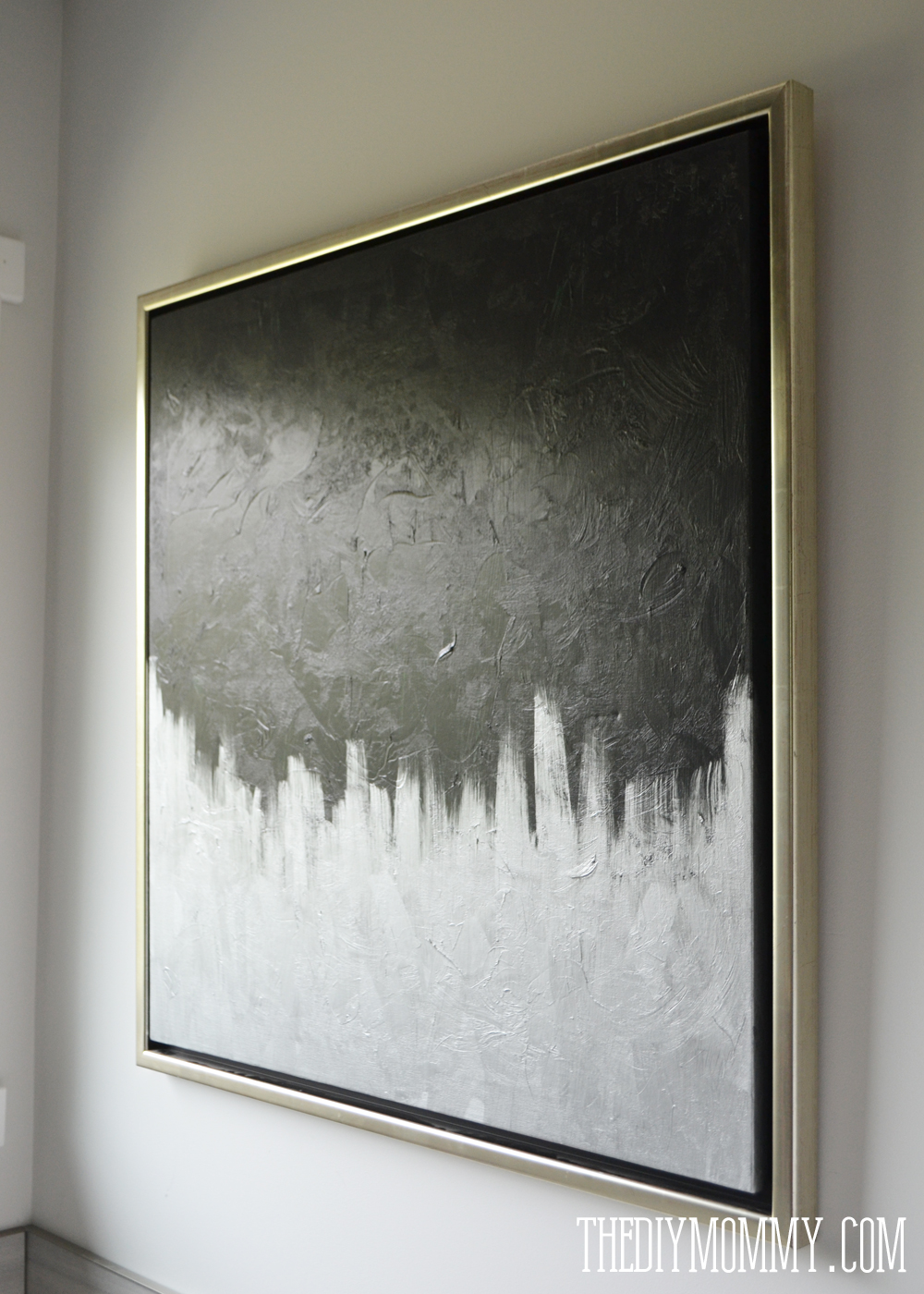 Make Modern Artwork From Thrift Store Canvas Art The Diy