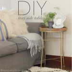 DIY Tray Side Table