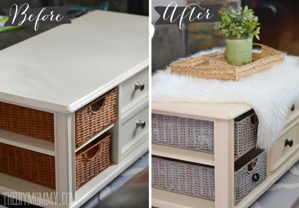 An Easy Coffee Table Makeover With Chalk Paint The Diy Mommy