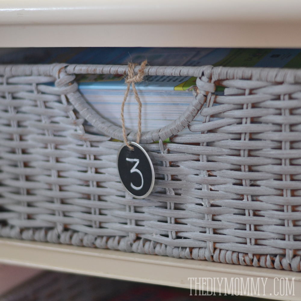 How To Paint Wicker Baskets With Chalk An Easy Coffee Table Makeover
