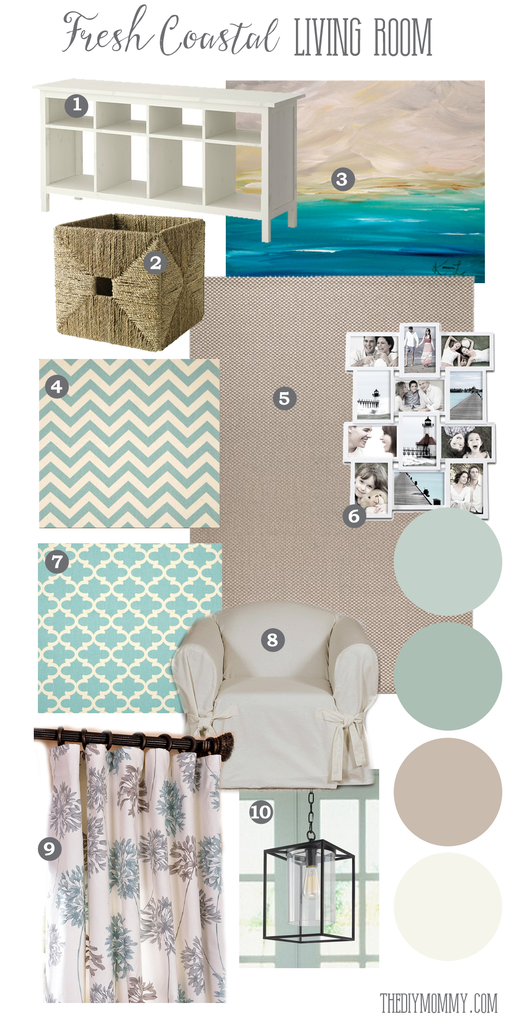 Reader Mood Board A Fresh Coastal Living Room With Affordable Pieces