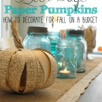 DIY Book Page Pumpkins