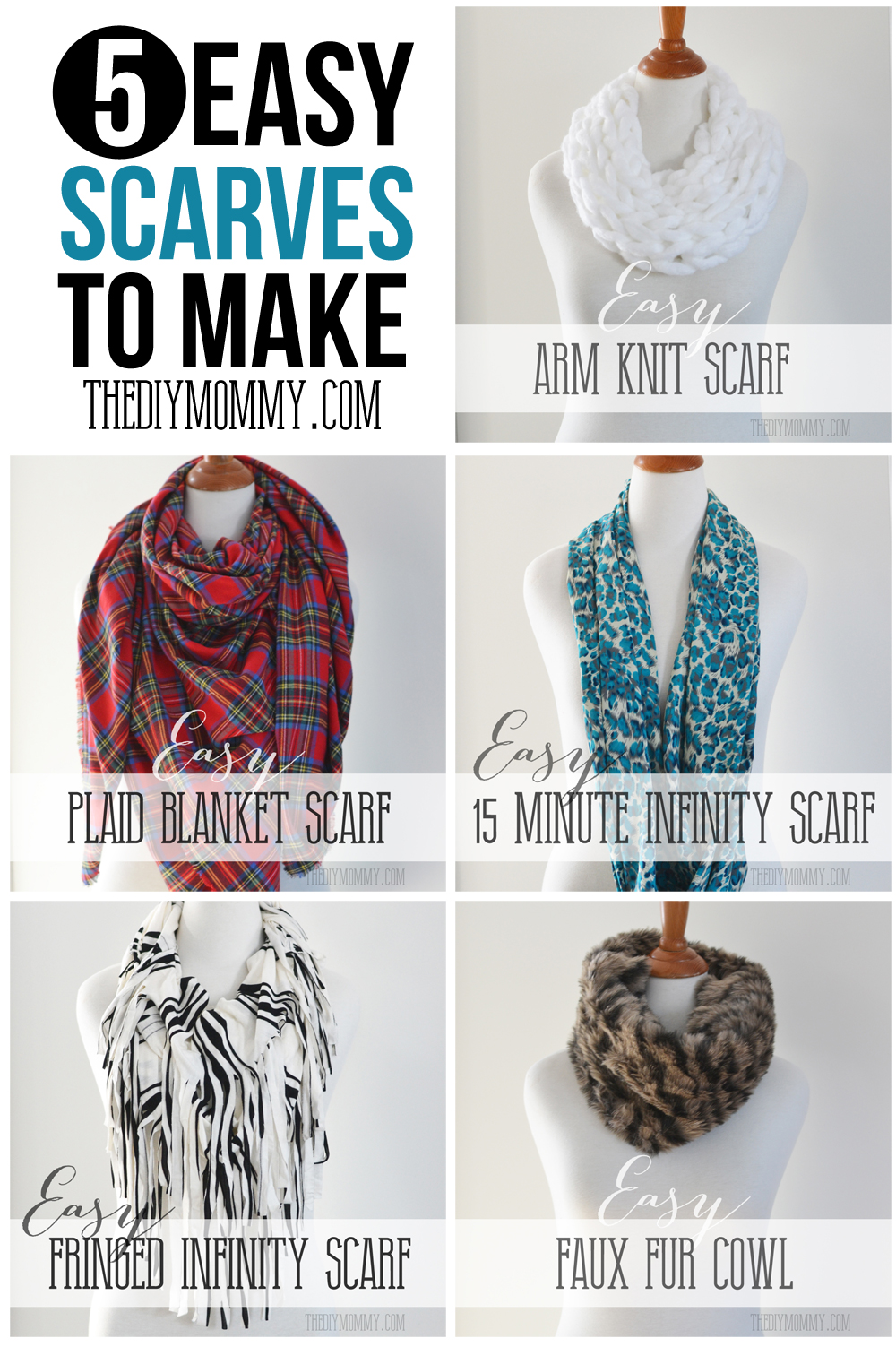 make an easy no sew diy plaid blanket scarf the diy