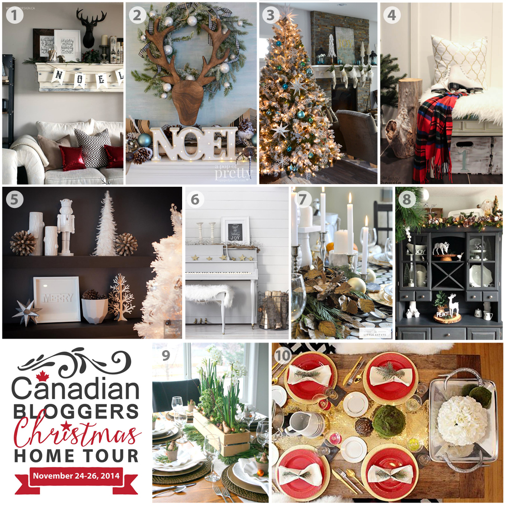 Canadian Bloggers Christmas Home Tour 2014