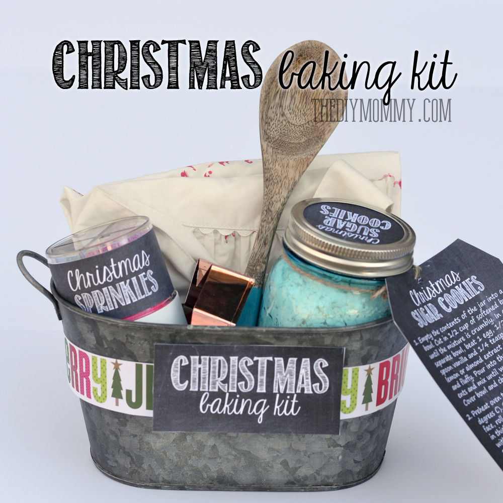 gift basket idea a christmas baking kit in a tin put sprinkles cookie