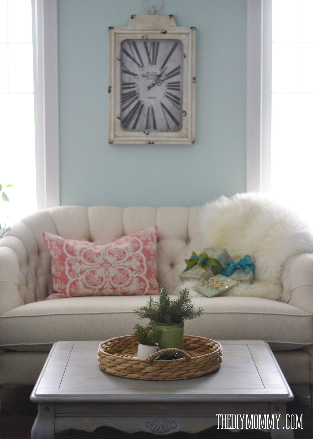 Teal And Green Living Room 2014 Christmas Home Tour A Teal Green Vintage Inspired