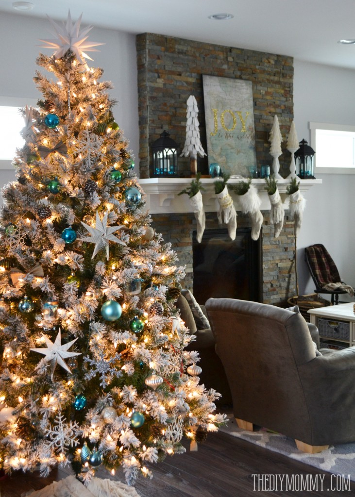 2014 Christmas Home Tour A Teal Amp Green Vintage Inspired