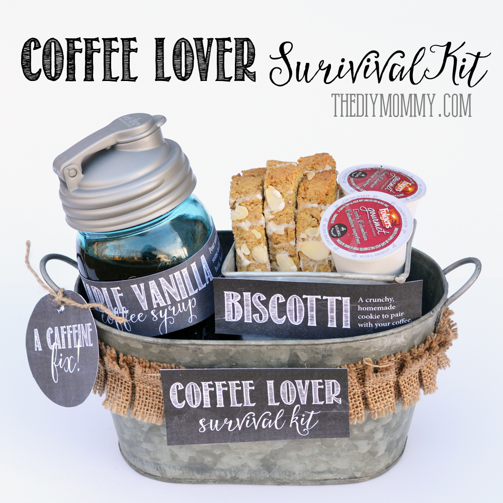 A Gift in a Tin: Coffee Lover Survival Kit | The DIY Mommy