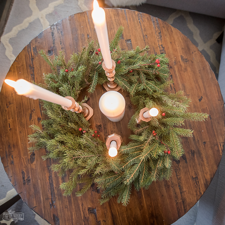 How to make a real evergreen Christmas wreath