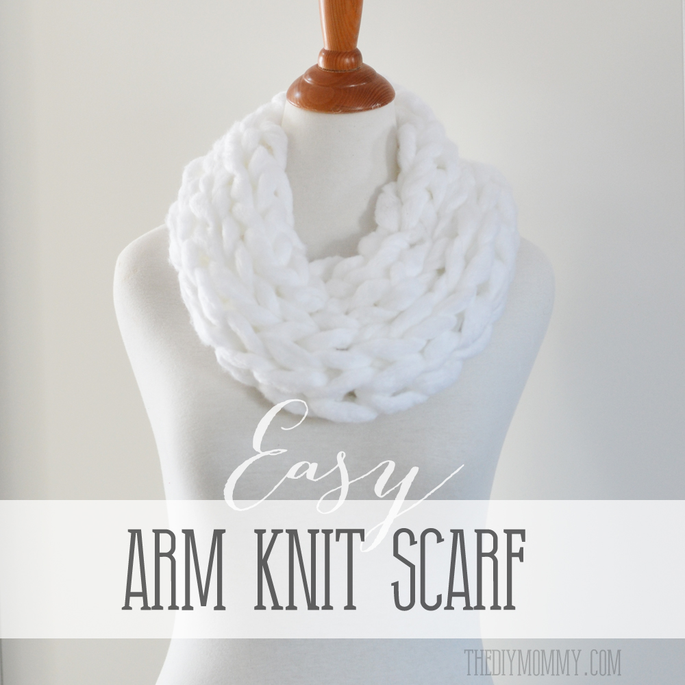 DIY Easy Arm Knit Scarf Video Tutorial
