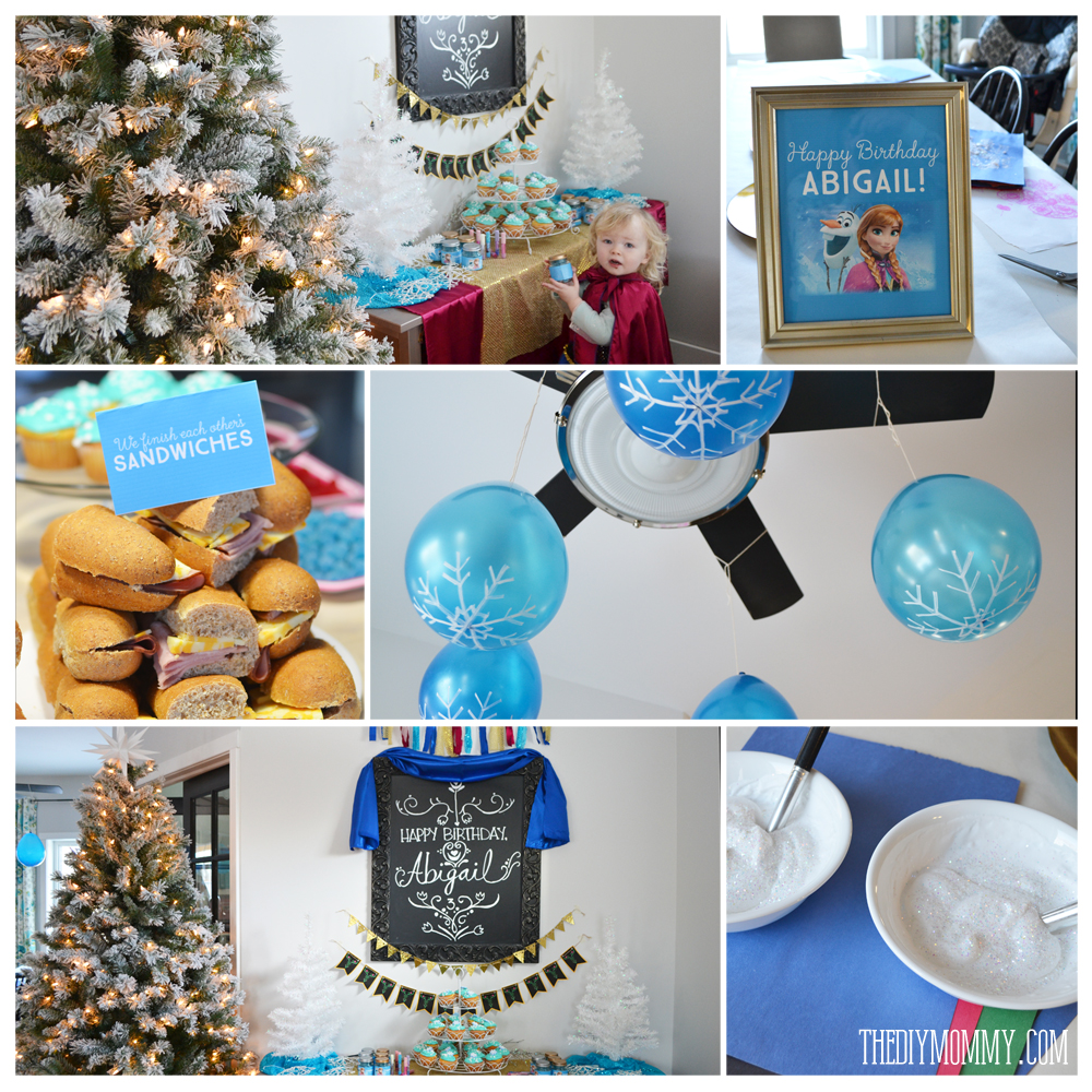 Inexpensive, DIY Frozen birthday party ideas