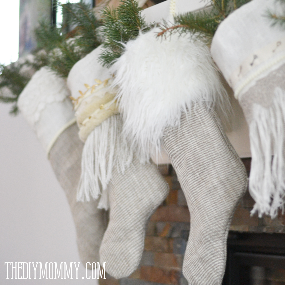 sew linen burlap christmas stockings anthropologie inspired