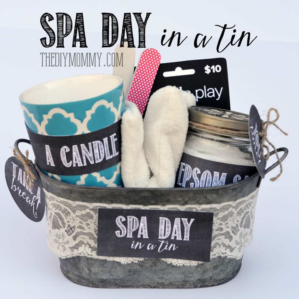 A gift in a tin spa day in a tin the diy mommy for Diy gift ideas for women