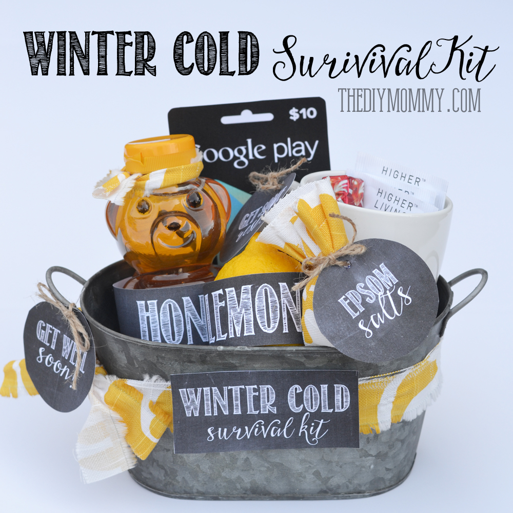 photo relating to Printable Survival Cards identified as A Reward inside of a Tin: Wintertime Chilly Survival Package