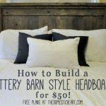 DIY Pottery Barn Rustic Headboard