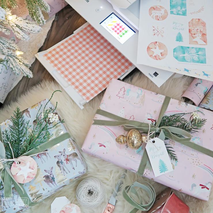 Free Printable Blush Pink & Mint Green Christmas Gift Tags
