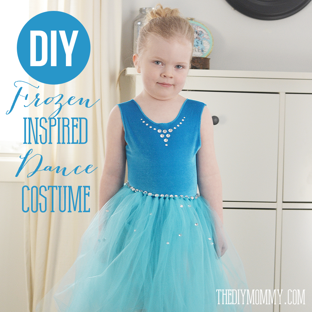 Sew a Frozen Inspired Kid\'s Dance Costume | The DIY Mommy