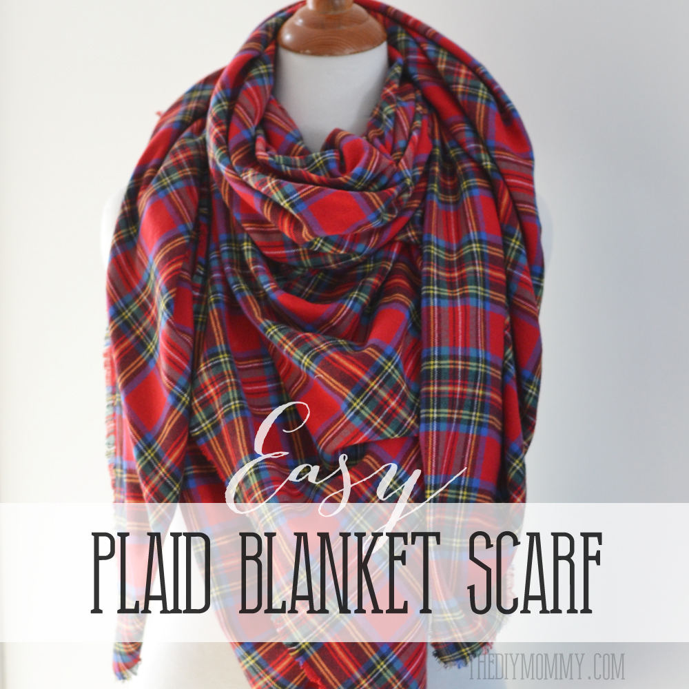 How to make a DIY plaid tartan blanket scarf - SO easy!