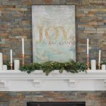 Our Vintage Inspired Glam Christmas Mantel + Make Glittered Canvas Art
