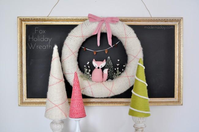 Fox Holiday Wreath