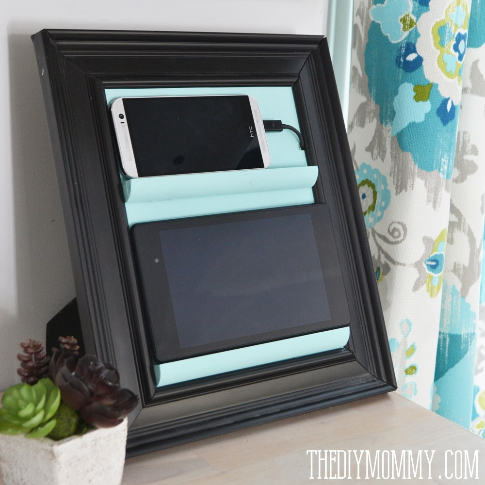 Make a counter top phone charging station tablet holder Diy cell phone charging station