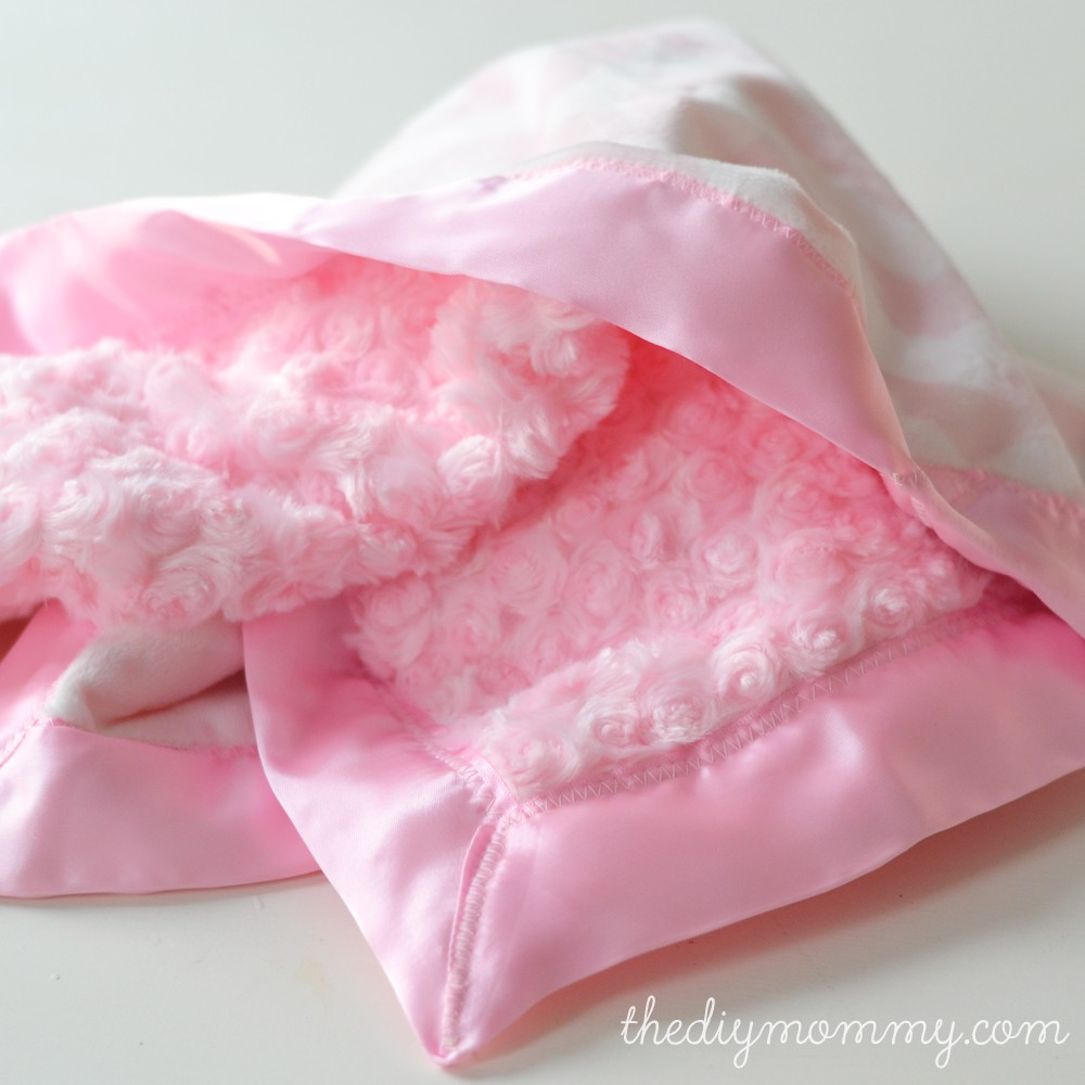 Sew A Double Minky Satin Bound Baby Blanket The Diy Mommy