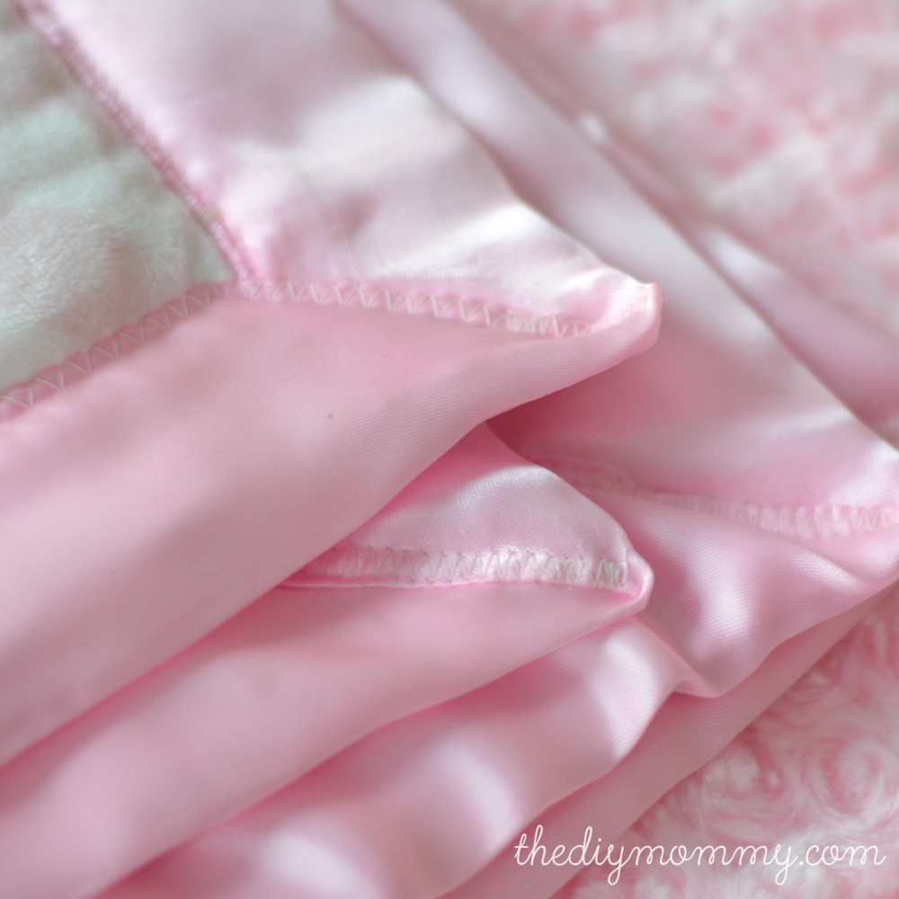 How to sew the softest DIY baby blanket with two layers of minky fabric and  satin 7d6198c8d