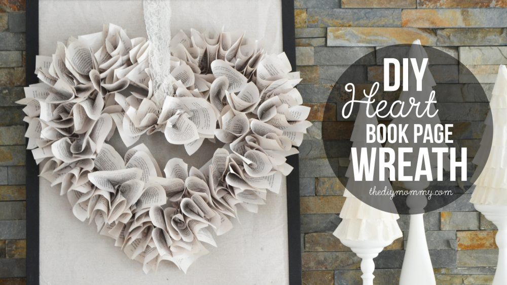 Video tutorial: How to make a heart book page wreath