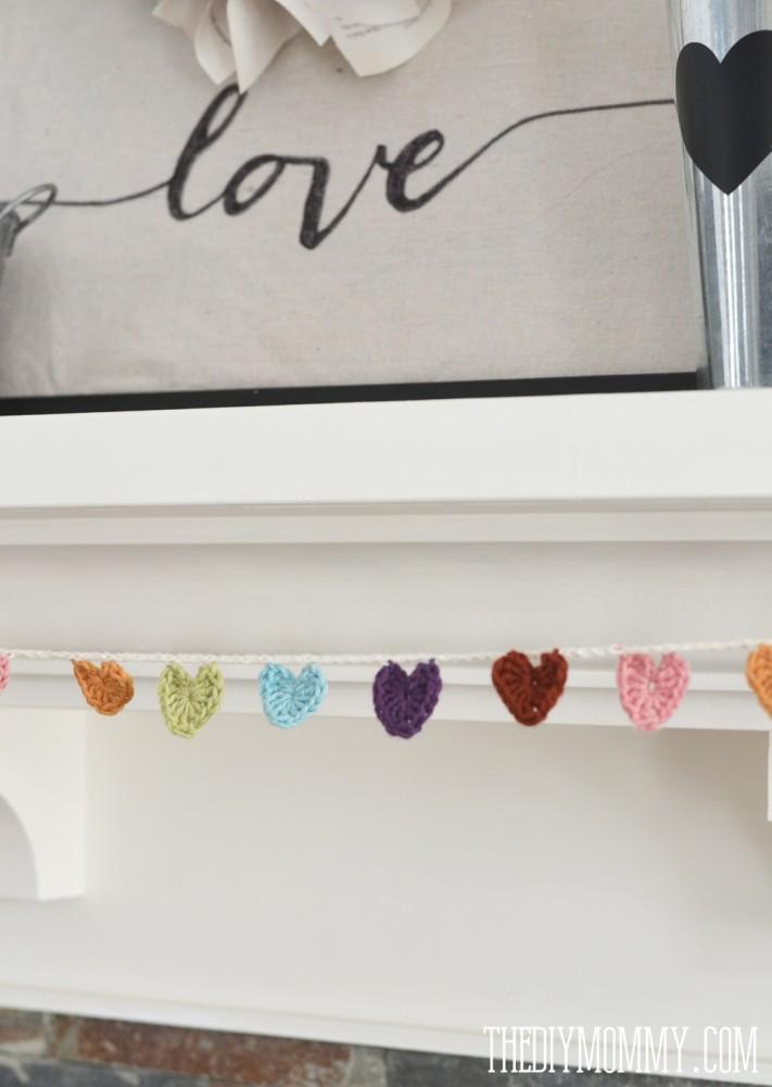 DIY Neutral Valentine's Day Mantel Decor