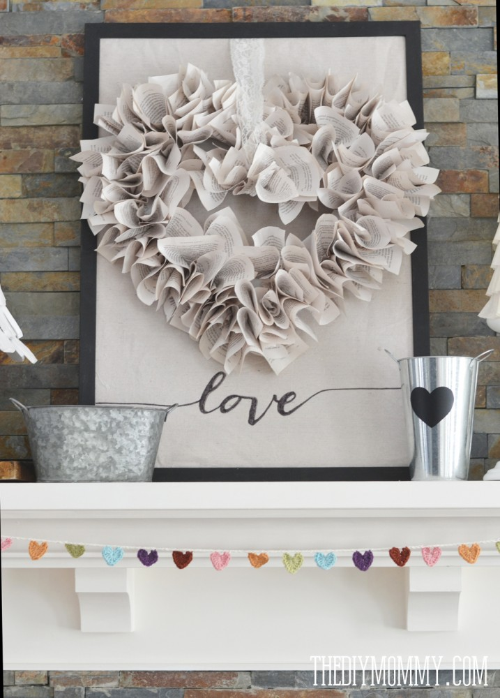 Valentine 39 s day mantel decorations and ideas for Heart decoration ideas