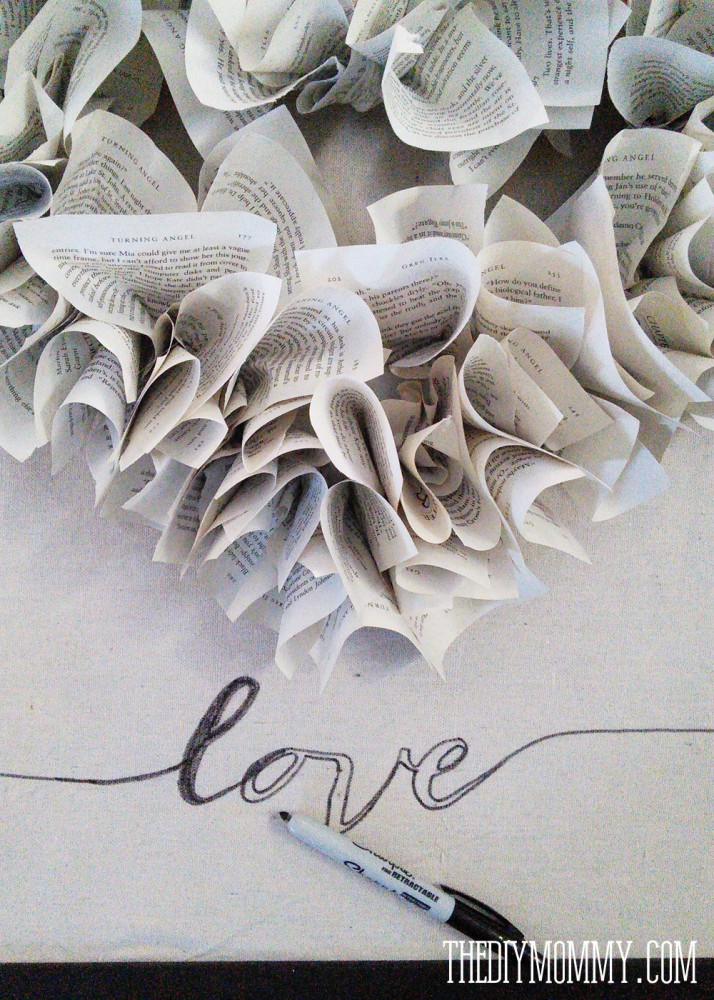 DIY Neutral Valentine's Day Mantel Decor