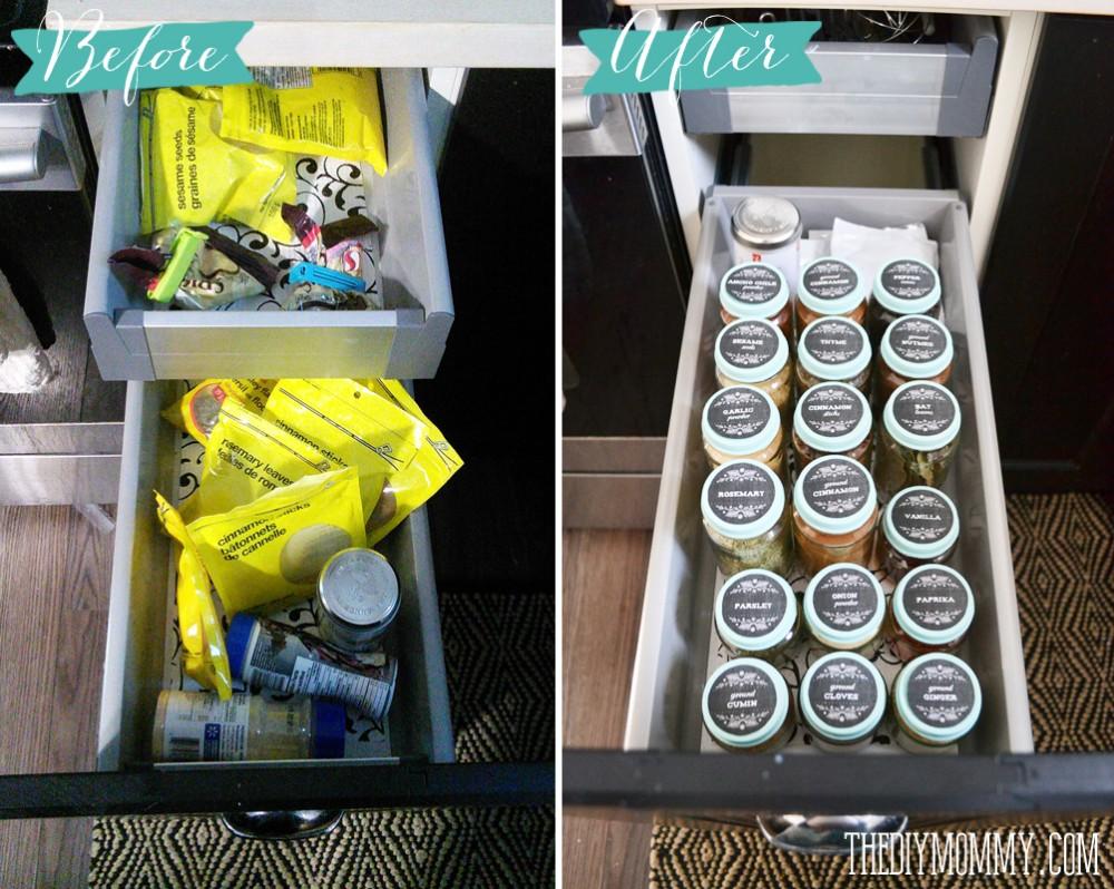 A Zero Dollar Spice Storage Solution The Diy Mommy
