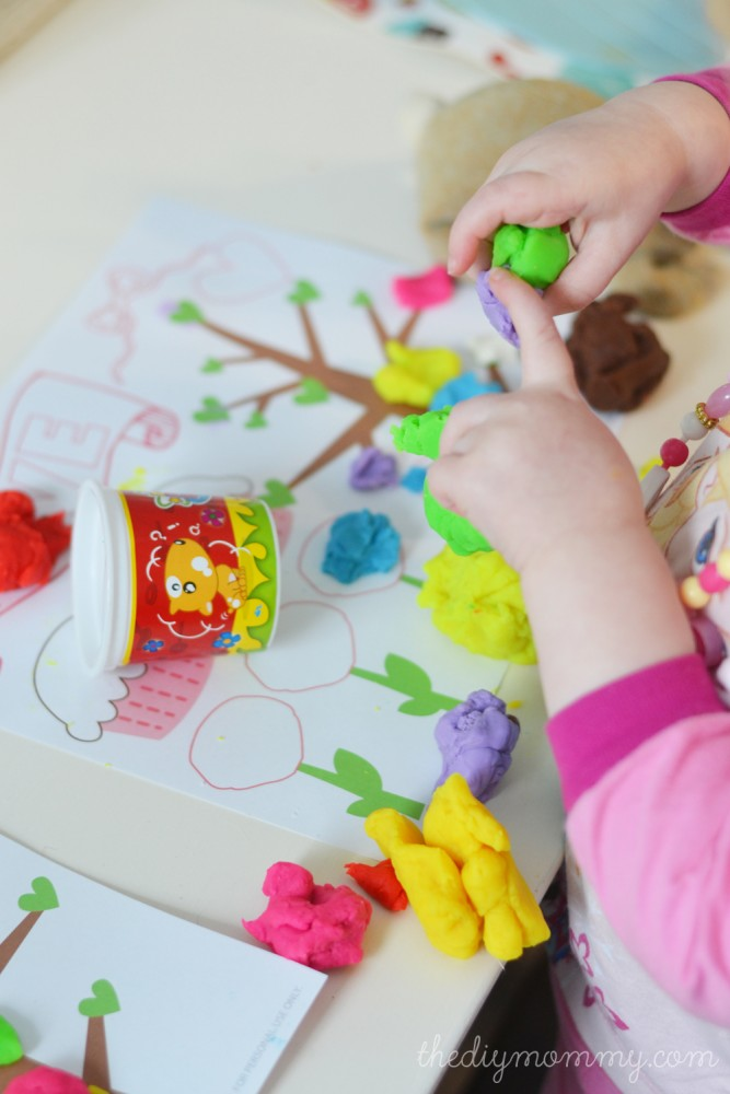 Free Valentine's Day Printable Play Dough Mat