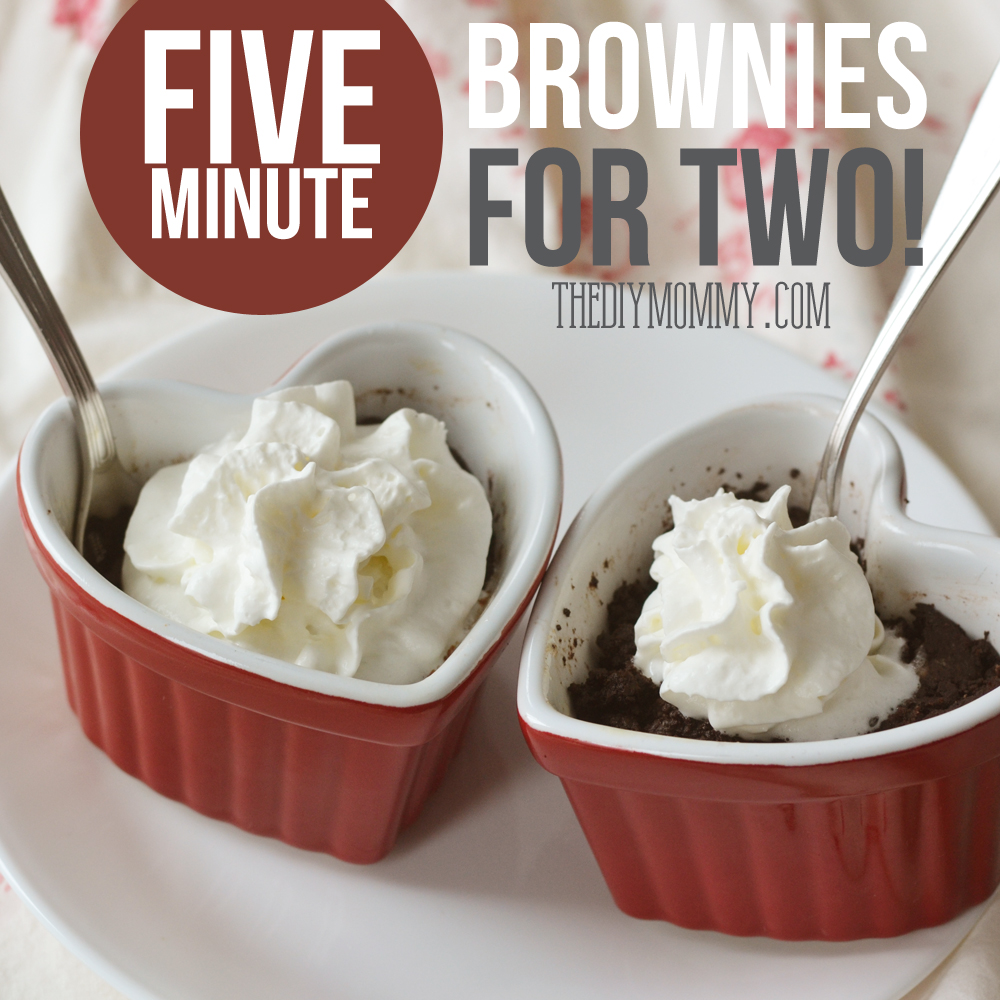 How to make brownies for two in 5 minutes!
