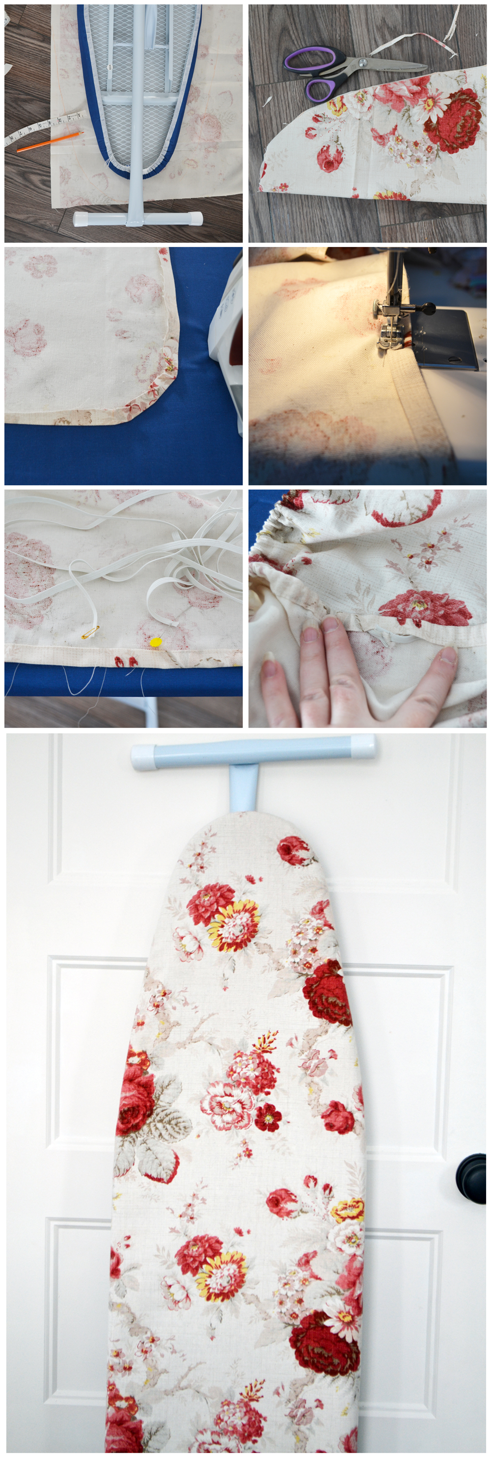 How to make an easy DIY floral ironing board tutorial
