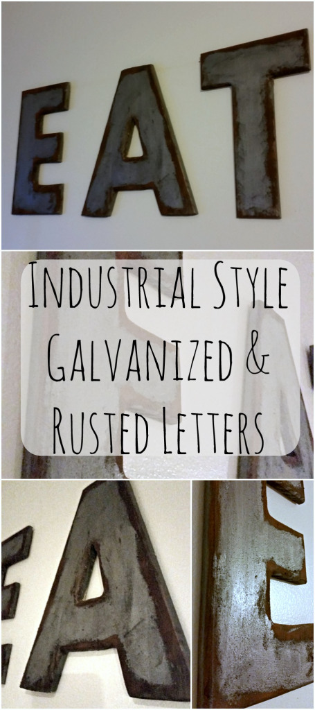 Industrial Style DIY Galvanized Letters