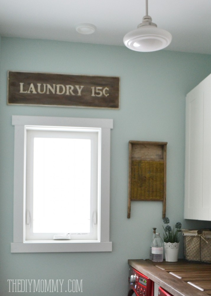 Make a Laundry Room Countertop from an Old Door | The DIY Mommy