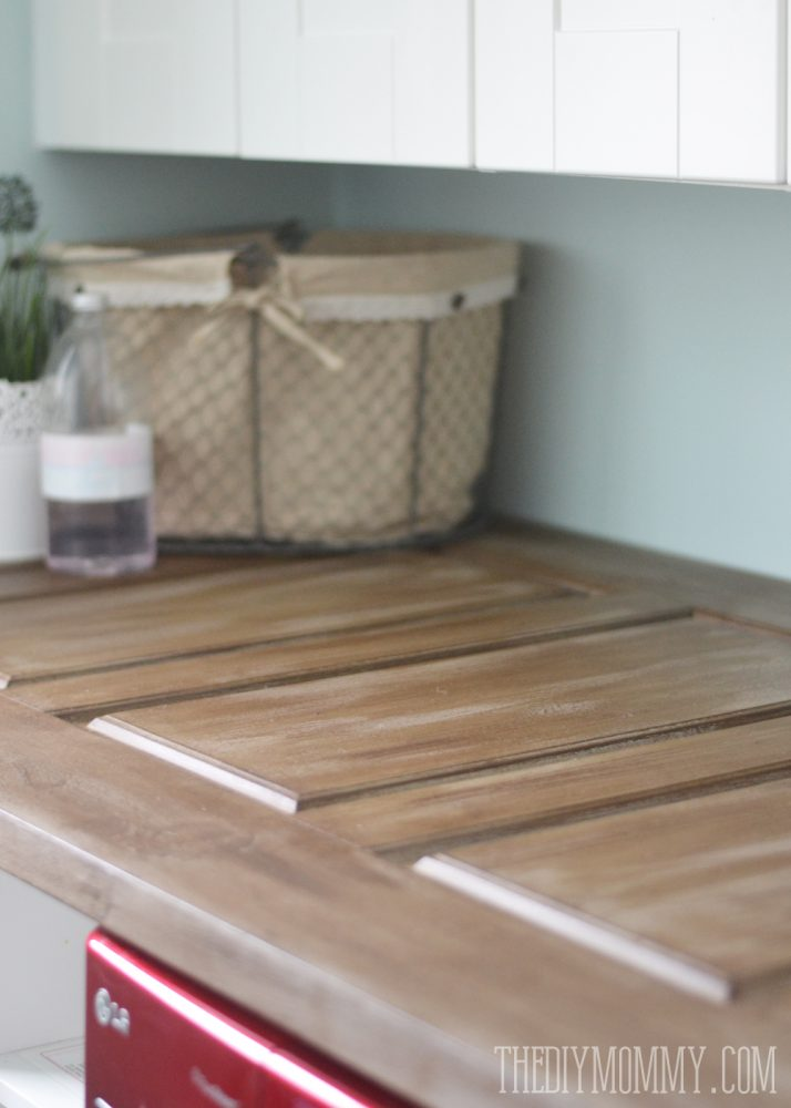 make a laundry room countertop from an old door the diy
