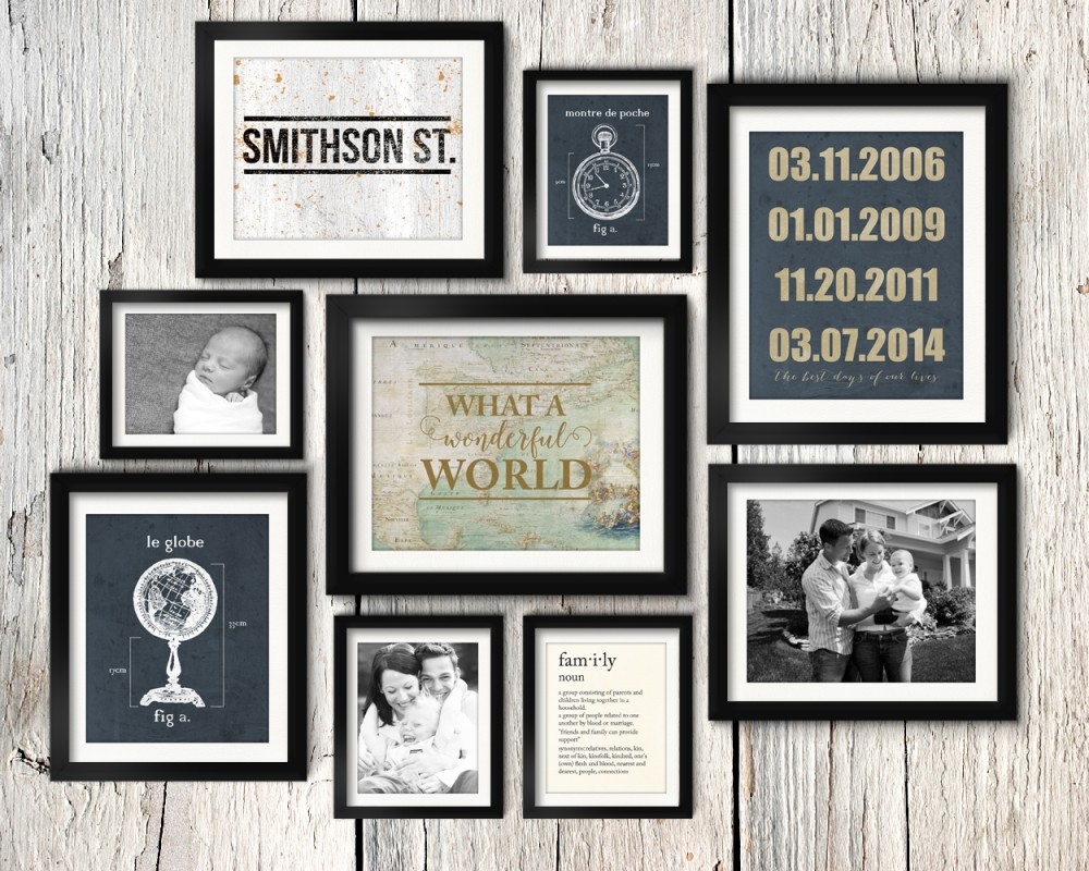 Etonnant Cute Asymmetrical Vintage Industrial Family Gallery Wall Idea