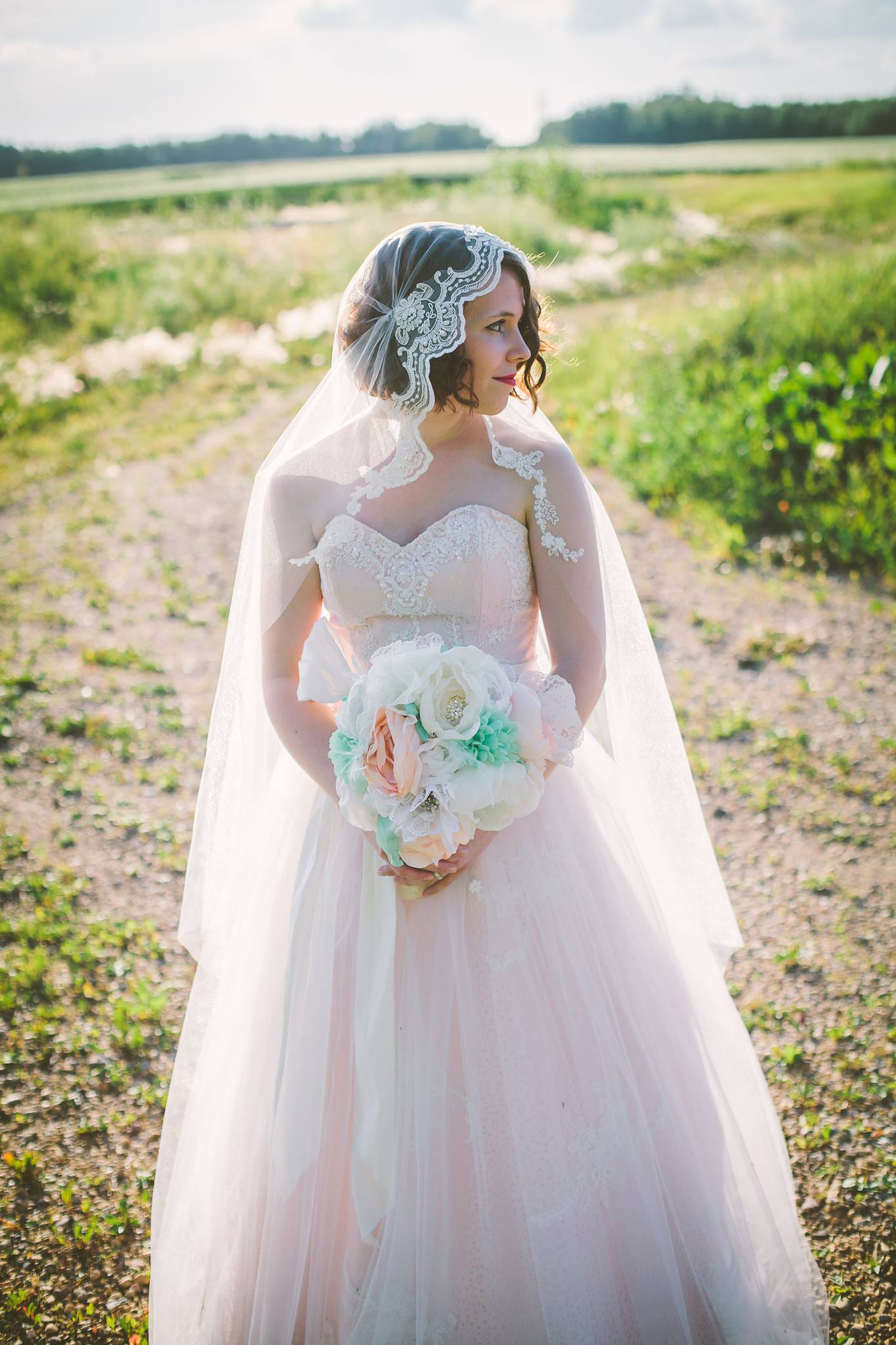 How to make a DIY juliet cap veil