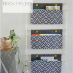 DIY Hanging Fabric Book Holder