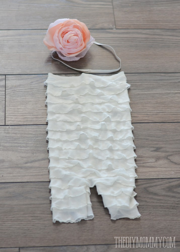 How to make an easy DIY ruffled petti romper