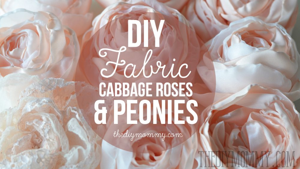 Video Tutorial: How to make fabric cabbage roses and peony flowers. So realistic & gorgeous!