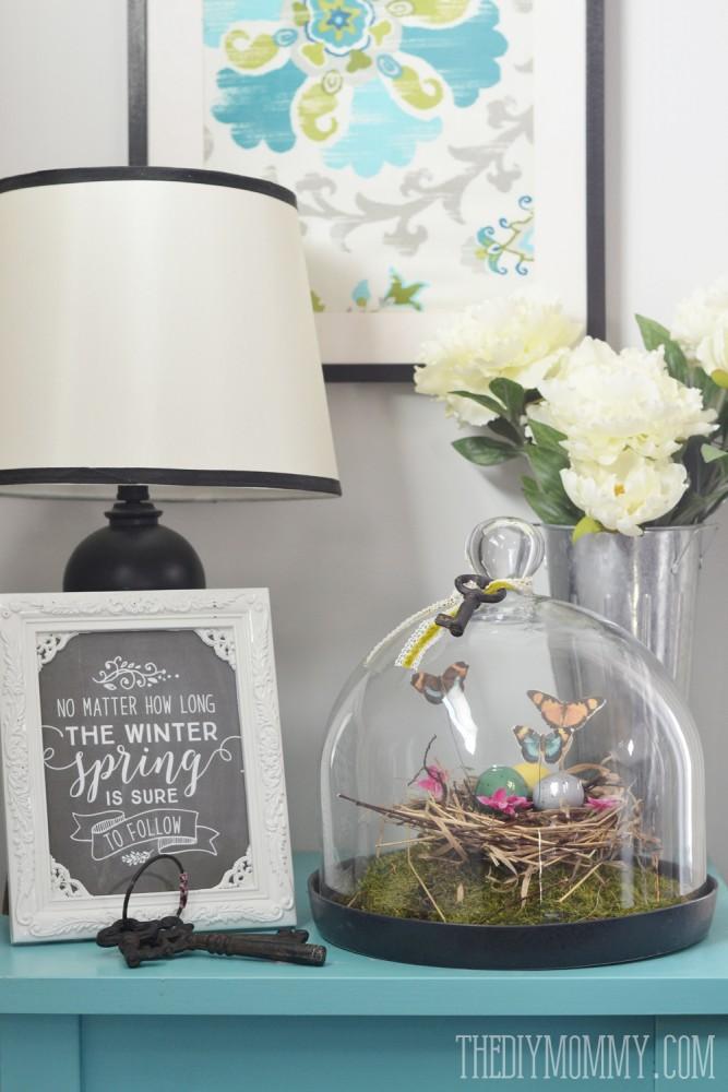 How to make a Spring bird's nest cloche