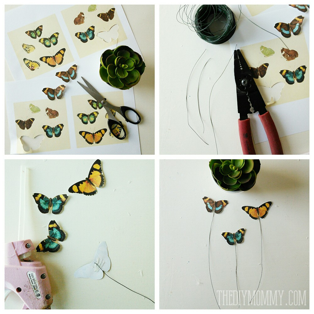 How to make vintage butterfly picks for decor accents