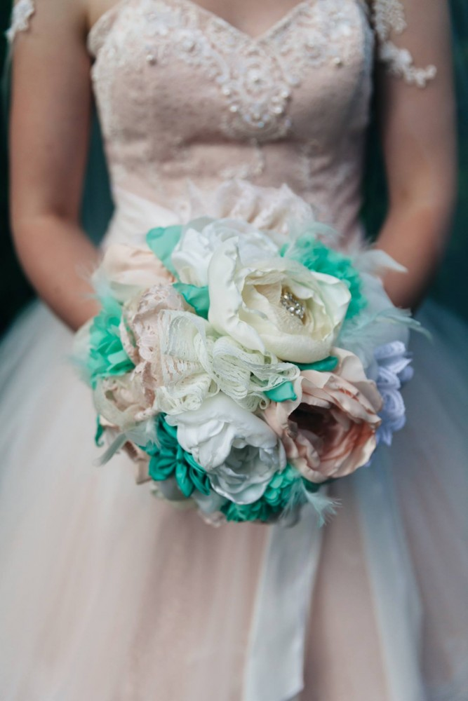 Make a Bridal Bouquet of Fabric Flowers | The DIY Mommy