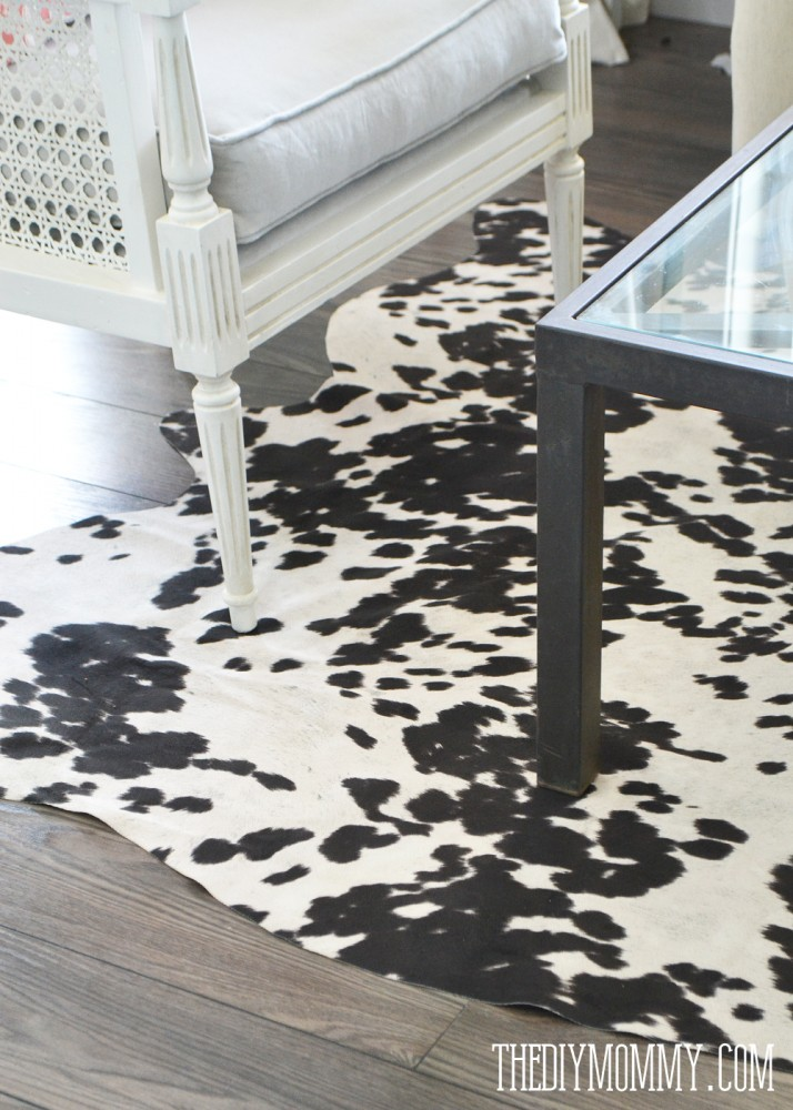 DIY faux cowhide rug for under $50! - Make A Faux Cowhide Rug For Under $50 The DIY Mommy