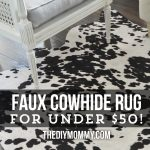 DIY faux cowhide rug for under $50!