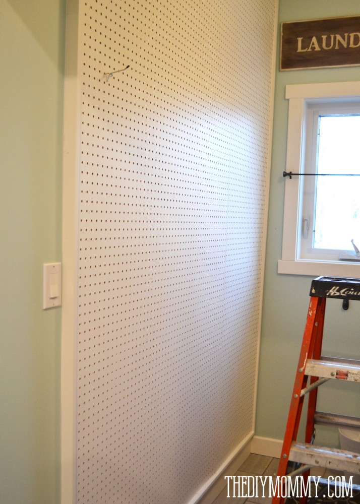how to build a giant diy framed wall mounted pegboard